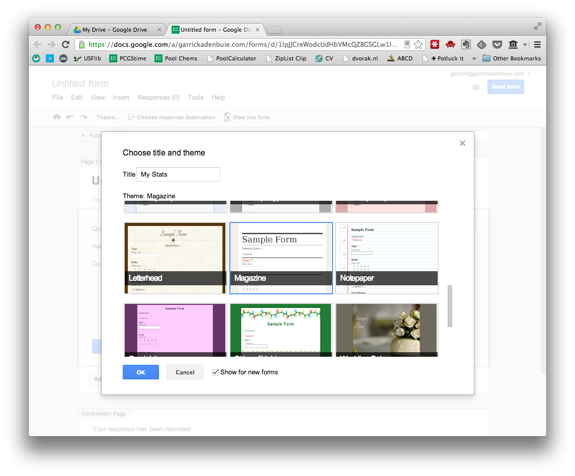 Use Google Forms and R to track data easily · Garrick Aden-Buie